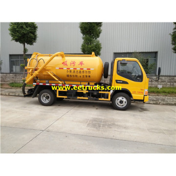 JAC 130HP 5cbm Sewage Suction Trucks