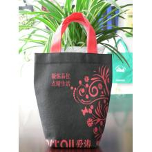 Small size logo printed two-color non-woven reusable bag