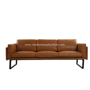 Factory directly sale for Supply Leather Sofa,Modern Leather Sofa,Pu Leather Sofa,Adjustable Leather Sofa to Your Requirements Modorn Genuine Leather three seaters sofa export to France Exporter