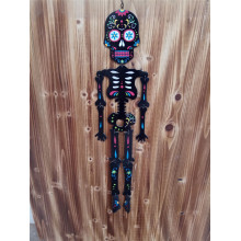High definition Cheap Price for Wooden Halloween Hanging Decoration Terror Wooden Human Skeleton Hanging supply to Hungary Factory