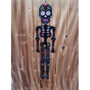 Trending Products for Halloween Hanging Decoration Terror Wooden Human Skeleton Hanging export to New Caledonia Factory