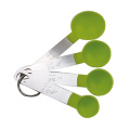 4 Pcs Green Plastic Measuring Cup Spoon Set
