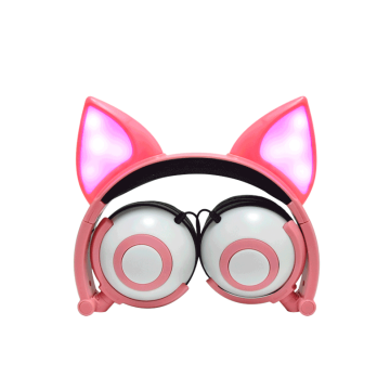 2019 New Trending Colorful lighting Fox Ear Headphones