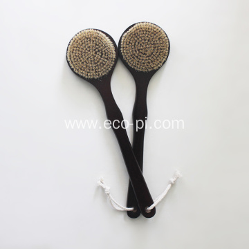 Round Head Bamboo Bristle Shower Body Brush