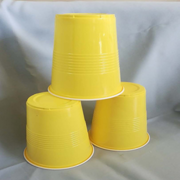 Yellow and White PP Disposable 480ml cup