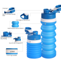Sport silicone retractable water bottles