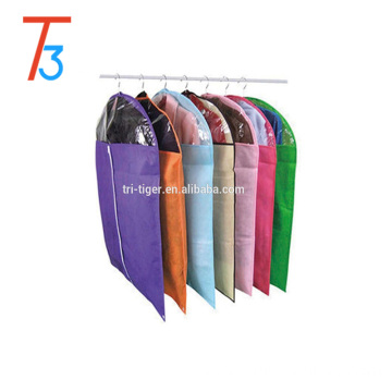 Non-woven Hanging Fabric Garment Cover Bag with clear window