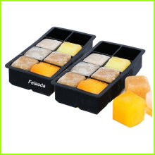 8-Cavities BPA Free Ice Cube Tray Silicone Mold
