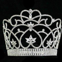 heart beauty tiara rhinestone pageant crown CR-027