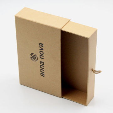 Drawer Open Luxury Brown Kraft Paper Gift Box