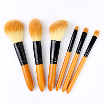 6 Pcs mini portable makeup brush