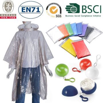 transparent disposable plastic rainwear