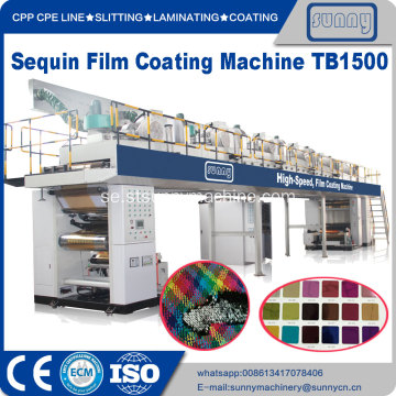 High Speed ​​PET Sequin filmbeläggningsmaskin