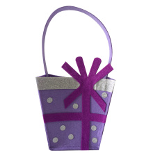 Purple happy birthday candy gift bag
