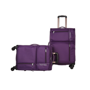 Genuine Leather Material and Handmade travel luggage bag