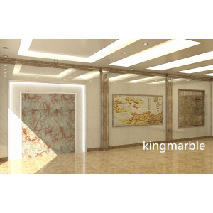 factory low price Used for Faux Marble Wall Panel pvc sheet 3mm kitchen uv coat pvc wall panels supply to Cape Verde Supplier