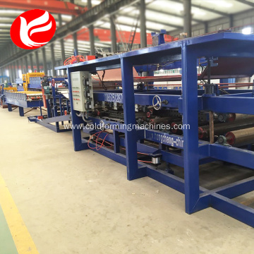EPS roofing sandwich panel automatic production line