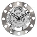 Classic Stainless steel Gear Wall Clock