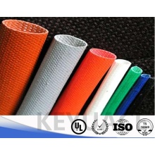 Silicone Rubber Resin Wire Insulation Fiberglass Sleeve