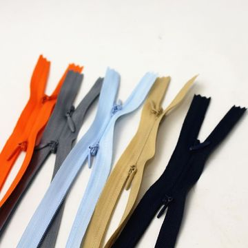 Good design well-made tight nylon zippers for coat