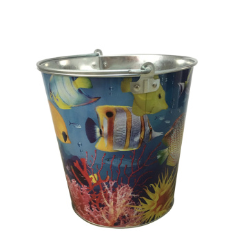 Metal Custom Garden Bucket with Large Size