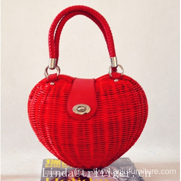 High quality summer straw rattan basket handbag beach tote bag