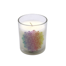 Popular scented candles in glass jar