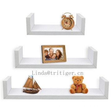 Eco-friendly set of 3 piece floating wall shelf ledge