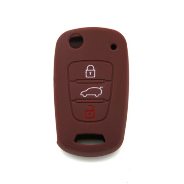 KIA 3 buttons silicon car key case