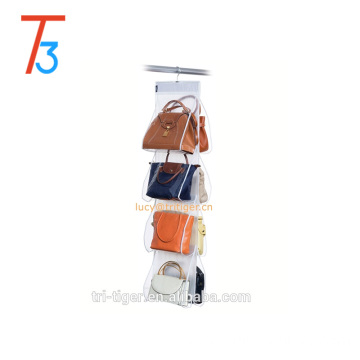 8 POCKET HANGING HANDBAG PURSE TIDY STORAGE ORGANISER WARDROBE CLOSET