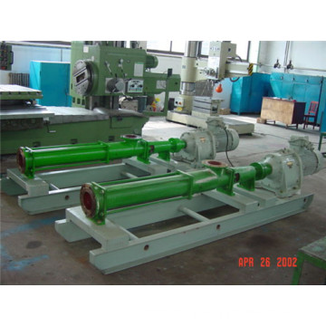 Single screw volume pump