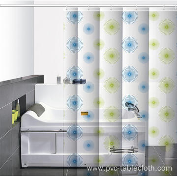 M.style Waterproof Bathroom printed Shower Curtain
