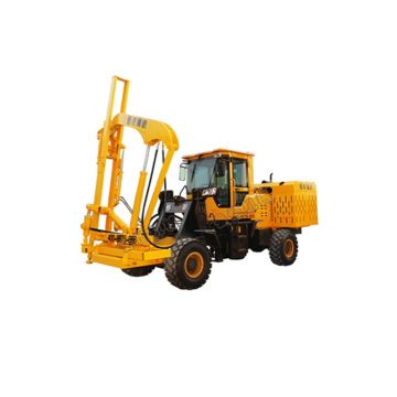 Loader post hydraulic pilder driver