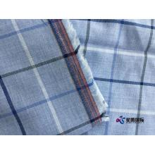 High Quality for Multi Color Cotton Blend Fabric Light Blue Check Man Shirt Fabric supply to Rwanda Manufacturers