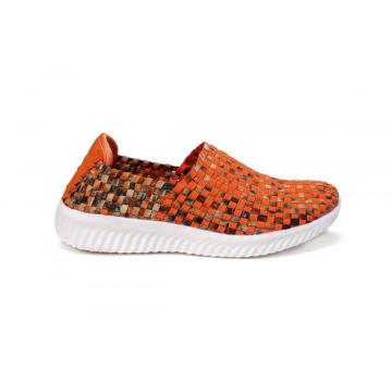 China for Womens Durable Woven Fabrics Sneakers Classic Style Superior Quality Elastic Upper Woven Loafers export to Netherlands Manufacturer