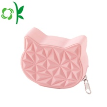 Custom Design Silicone Cat Head Purse Coin Wallet