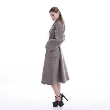 Winter ladies wear belted cashmere coats