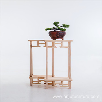 Wholesale Home Indoor Wooden Flower Plant Stand Display Shelf