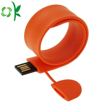 Fashion Silicone USB Flash Drives Slap Bracelet/Wristband