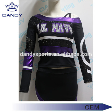 Glitter rhinestone cheerleading uniform for youth