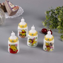 Milk bottle shape candles for children birthday gift