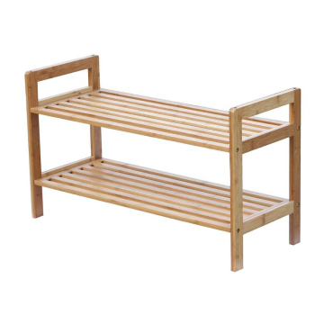 Oceanstar 2-Tier Bamboo Stackable Shoe Rack
