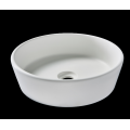 Artificial stone round countertop washbasin for cabinet