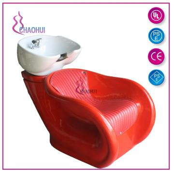 Shampoo chair with basin