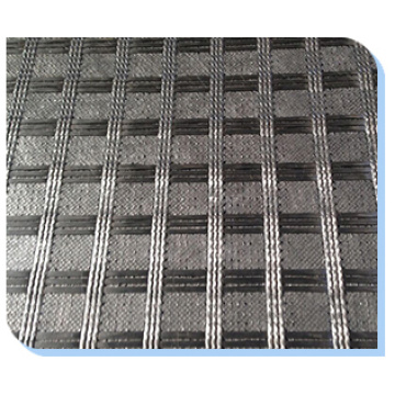 Knitted Glassfiber Geogrid With Geotextile Geocomposite