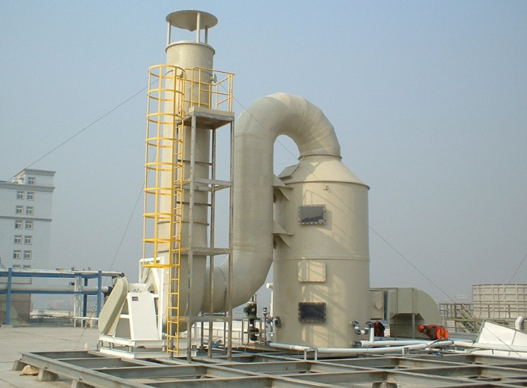 PP gas purification tower