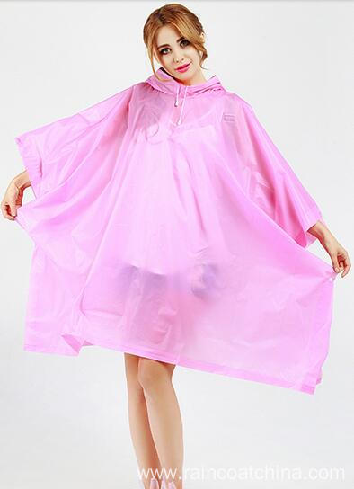 Reusable Youth Pink Rain Poncho