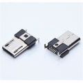 MICRO USB 5P MALE SMT SLIM WITH DIP