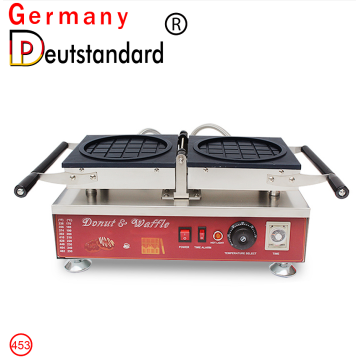 Flip Round Shape Waffle Machine with CE