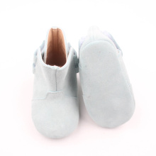 China for Baby Leather Boots Fashion shoes soft sole leather baby boots export to Russian Federation Factory